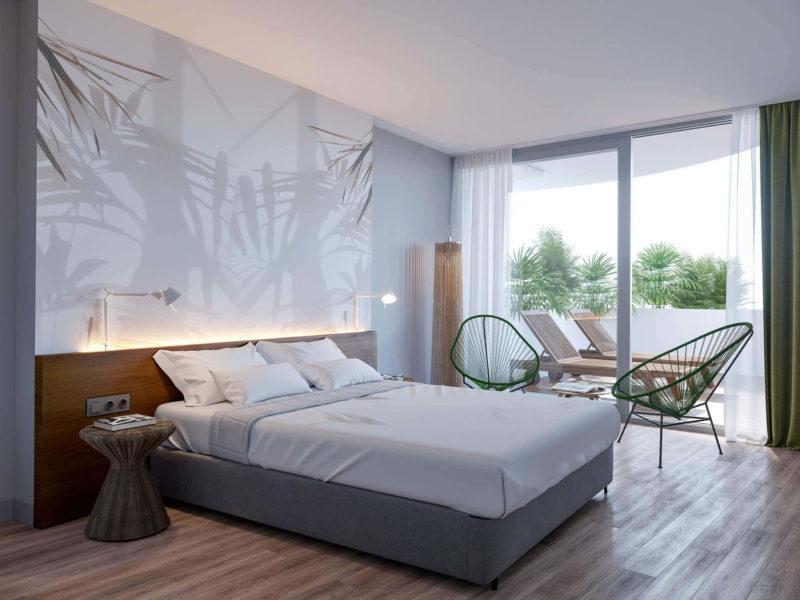 Deluxe с одной спальней и террасой